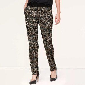 Ann Taylor Loft Floral Marisa Ankle Pants
